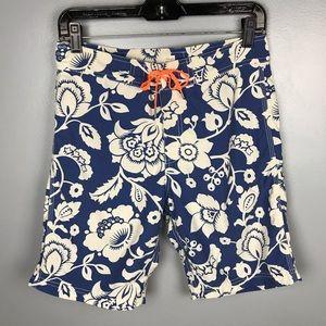 J. Crew Crewcuts Boy Board Shorts Hawaii Flower